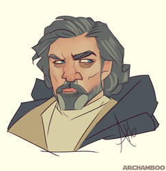 Luke Skywalker 2.0 by zombiebreton