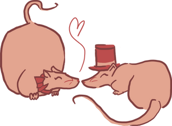 Rats in Love by admiral-squee