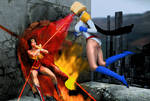 Power Girl vs Wonder Woman 2
