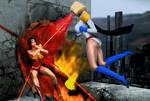 Power Girl vs Wonder Woman 2