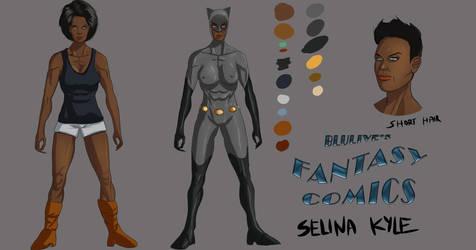 Selina Kyle model sheet