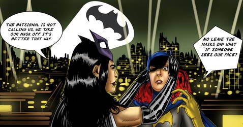 Huntress Unmasks Batgirl