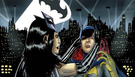 Huntress Unmasks Batgirl Alternative version