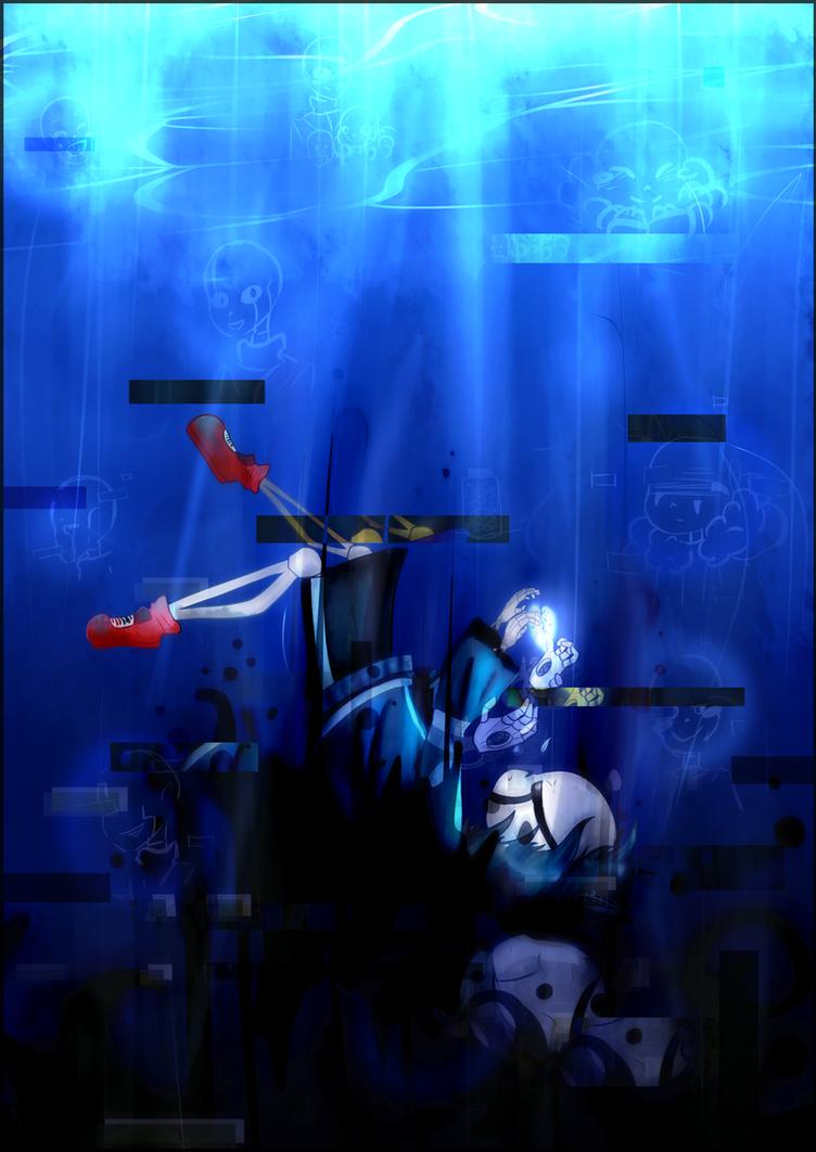 [GZTale] Falling in darkness + Speed paint by Porinu