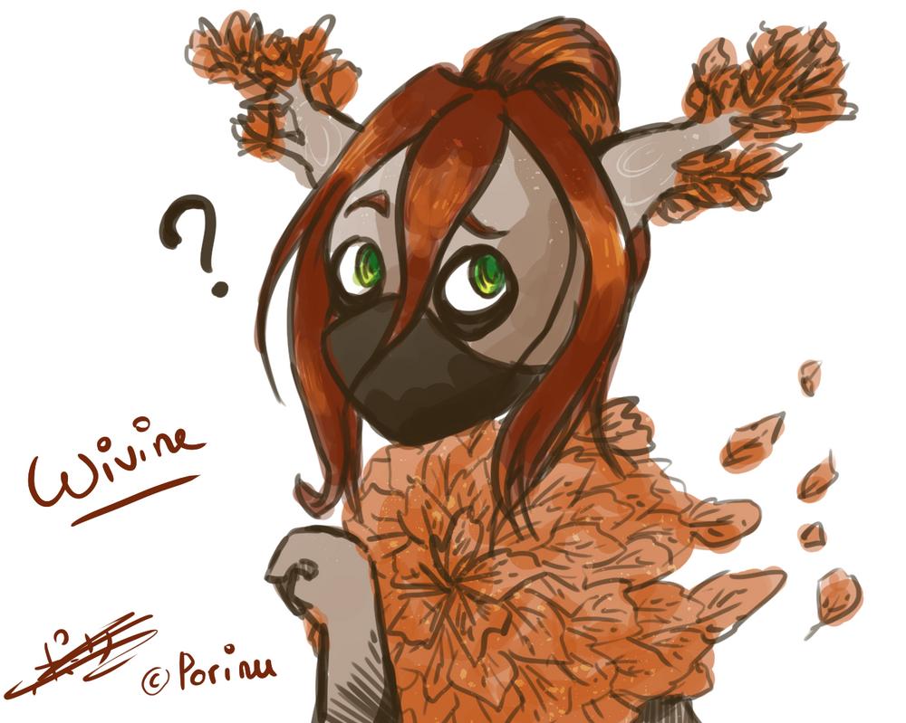 Wivine Autumn version Sketch by Porinu