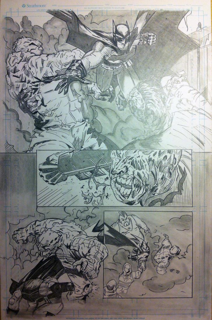 Batman Pencils Page 1 by Stryker224