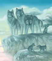 Heavenly wolves by akelataka