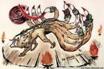 Demon Lord Ninetails by akelataka