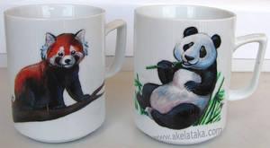 Panda Cups by akelataka