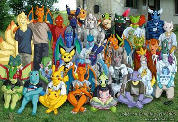 Pokemon Camping Trip 2005 by akelataka