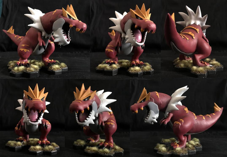 Tyrantrum 3D Printed Figure by akelataka