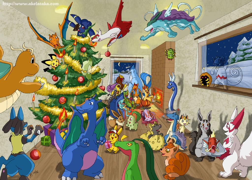 Merry Christmas, Happy Hanakuh, Happy Kwanza, and if you're atheist, Have a Nice Day! Pokemon_Christmas_by_akelataka