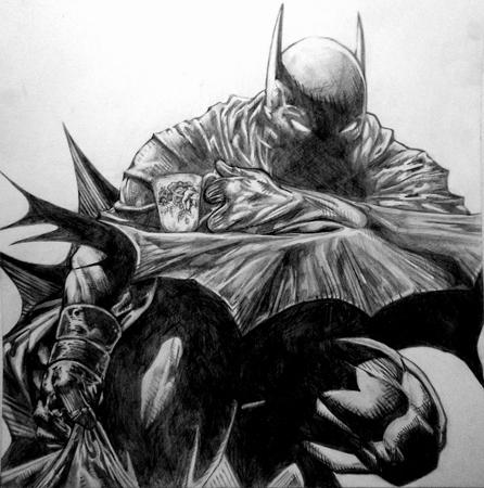 Batman sporting a cuppa' by lizawiza