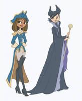 Courtney and Heather Disney cosplay by Kikaigaku