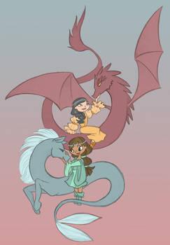 TD Fantasy kids Courtney and Heather