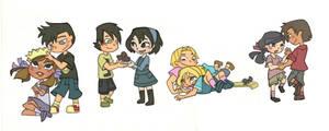 Four little couples