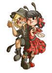 Petite Ladybug et Petit Chat Noir