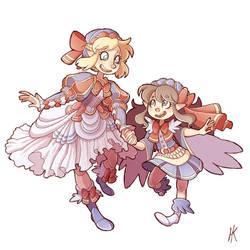 Renaissance Sailor Sisters (speedpaint)