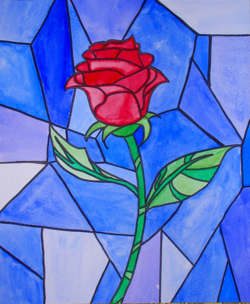 Pictures Of Beauty And The Beast Stained Glass Window Rose Rock Cafe