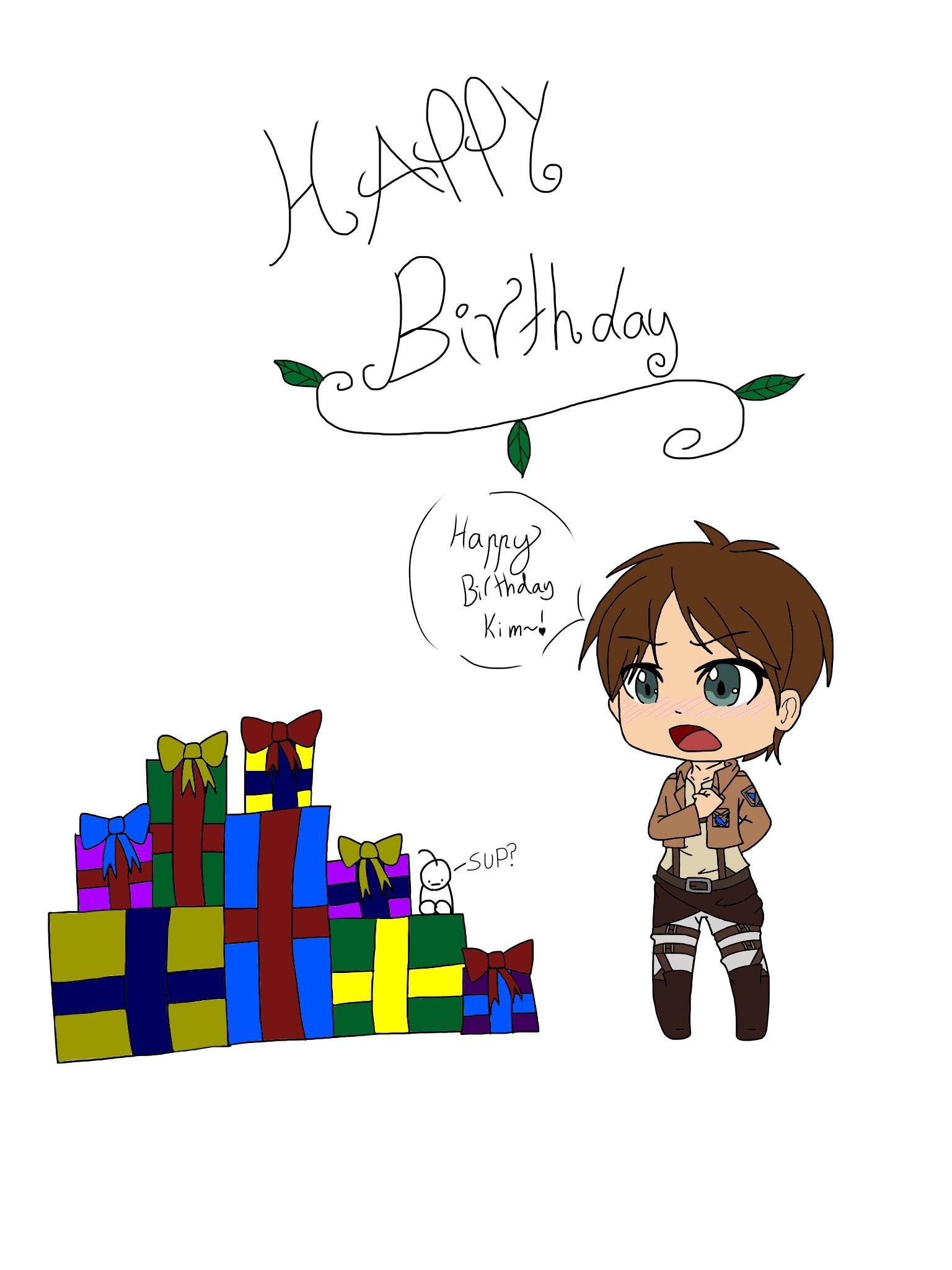 HAPPY BIRTHDAY KIM w by XxSweetScarlettxX on DeviantArt