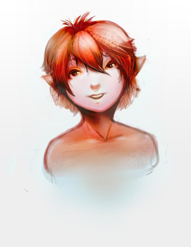 Red Sprite Girl by ZaneZansorrow
