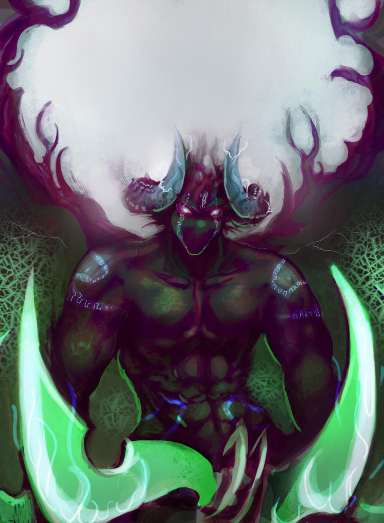 Warlock Demonology Demon Hunter by ZaneZansorrow