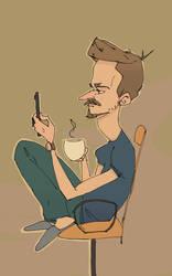 Morning Coffee, Self portrait 190402 by UmbarJr