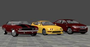 Camaro Z28, Integra R, and Taurus SHO for XPS