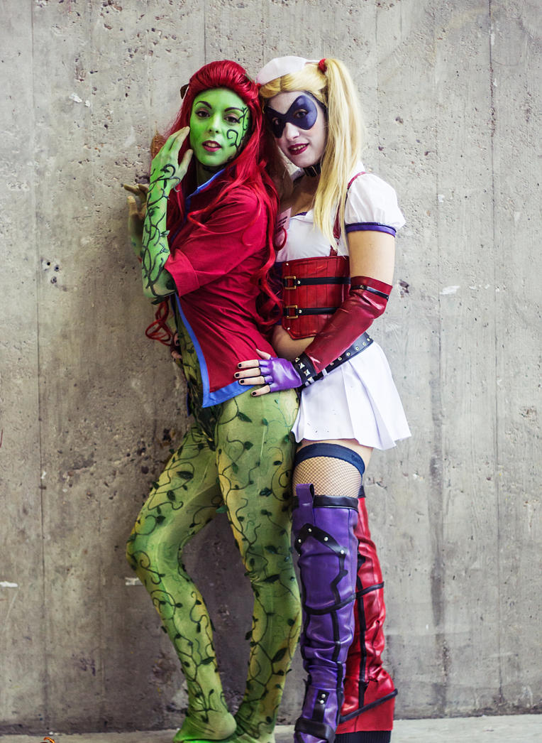 Cosplay - Poison Ivy (Arkham City) y Harley Quinn by Nagy ...