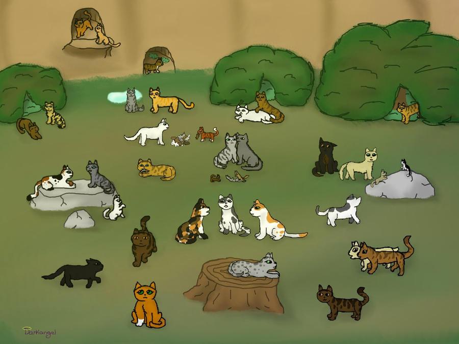 Warrior Cats Blossomkit thunderclan camp by da...