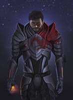 Hawke in Mass Effect Armor by GeminiBrain
