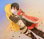 Ruby x Yang first kiss~!