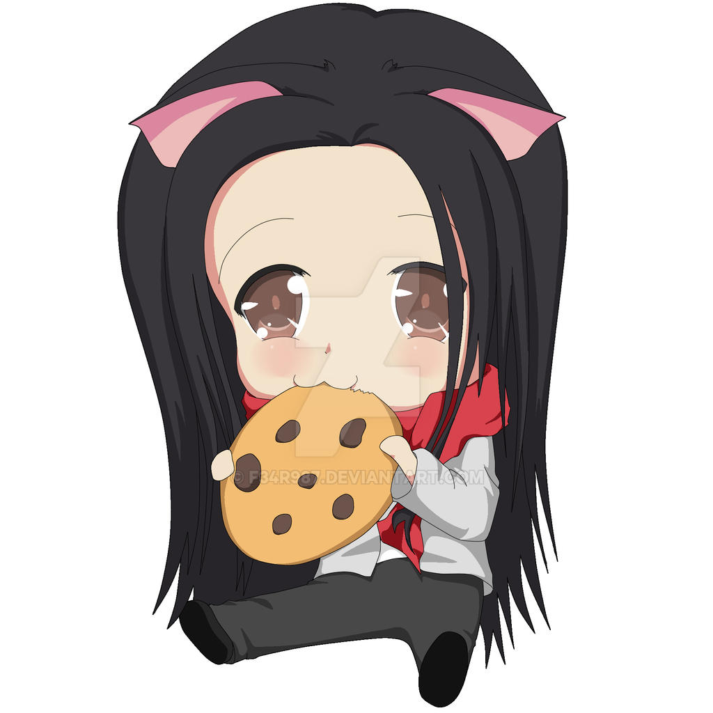 Chibi eating COOKIE~! by F34R987 on DeviantArt