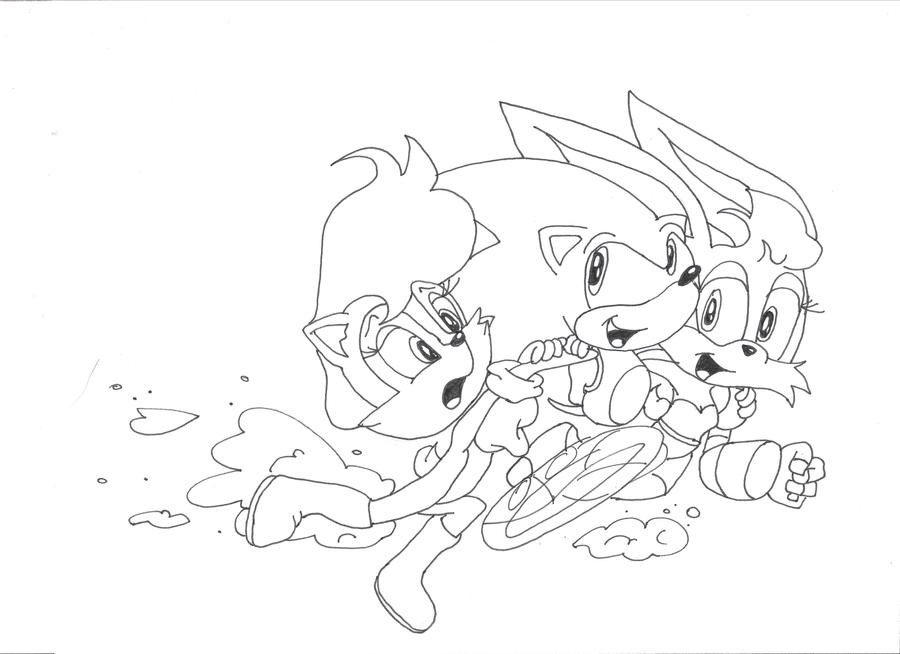 sonic satam coloring pages - photo#7