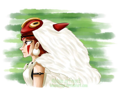 Princess Mononoke by himehisagi