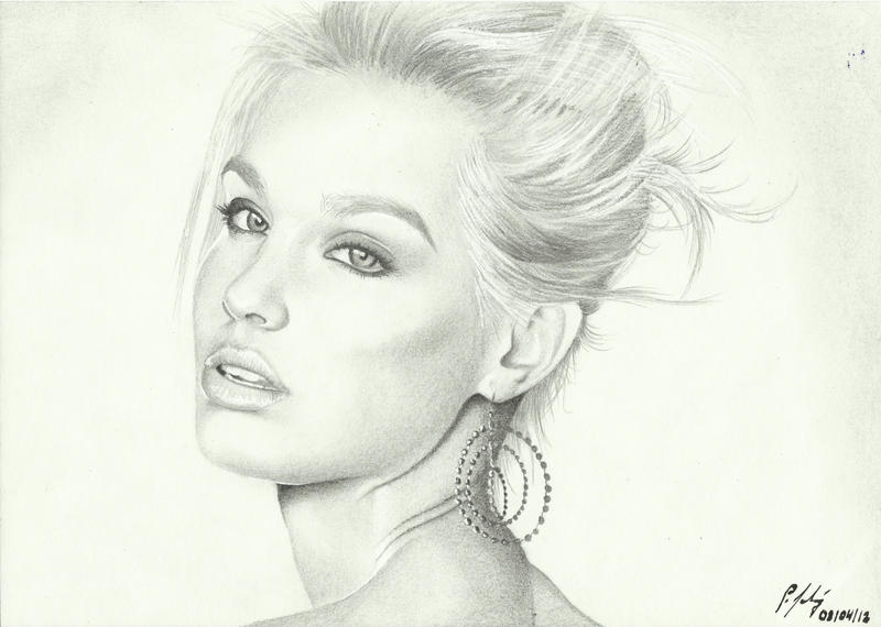 Bar Rafaeli Portrait by LeyuArt