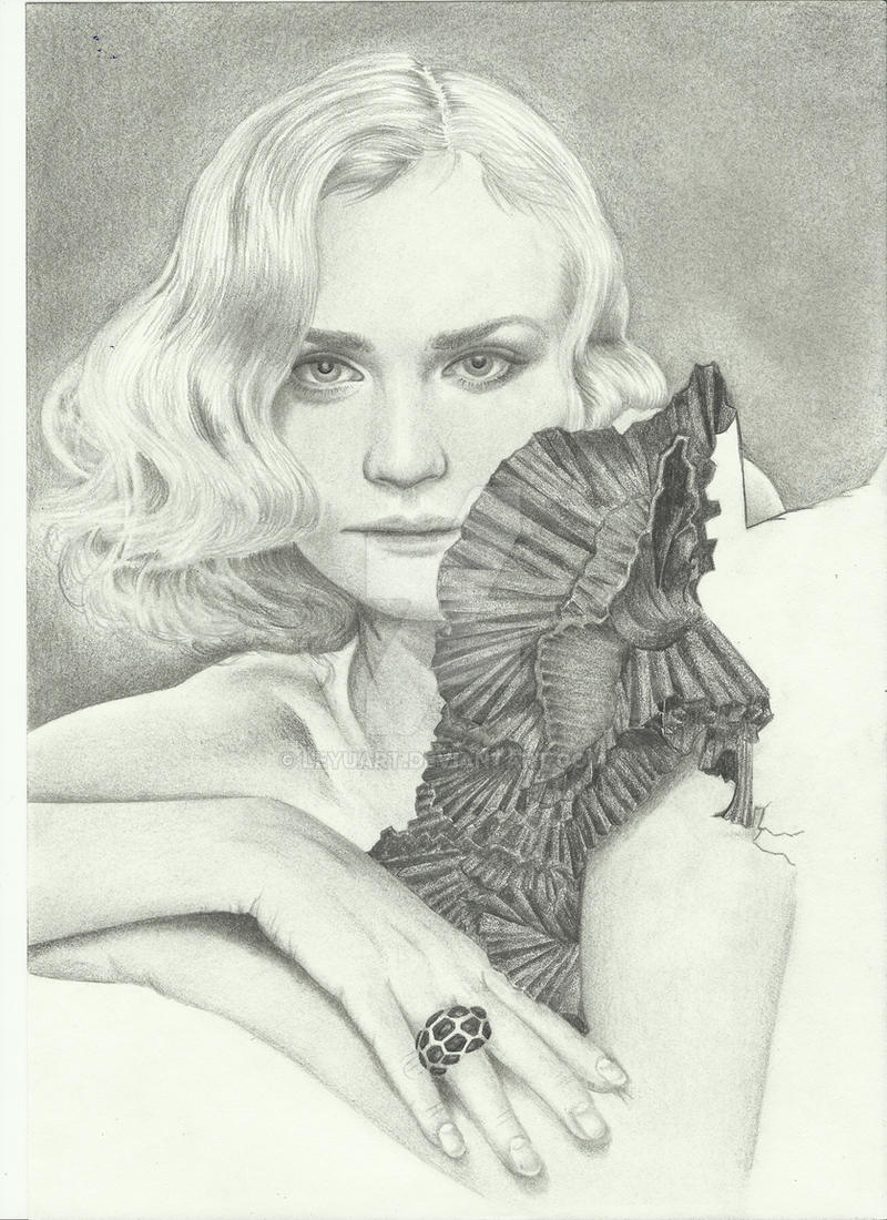 Diane Kruger -WIP- by LeyuArt
