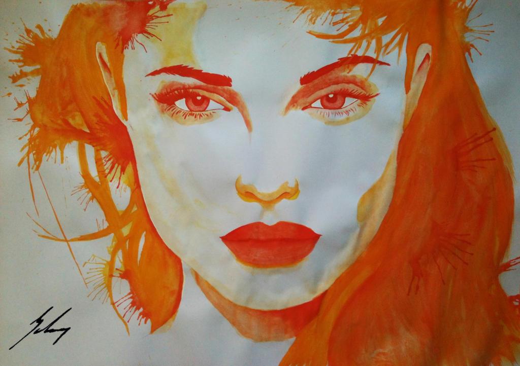 Angelina Jolie -Burning- by LeyuArt