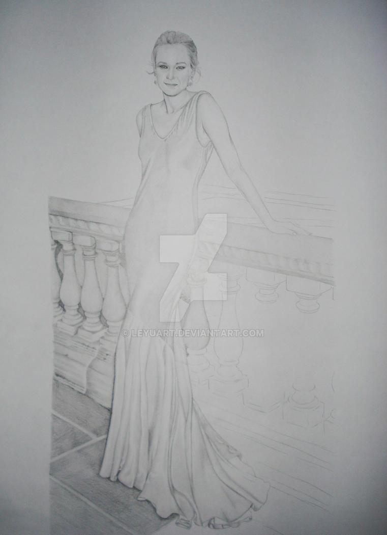 Diane Kruger WIP 1 by LeyuArt