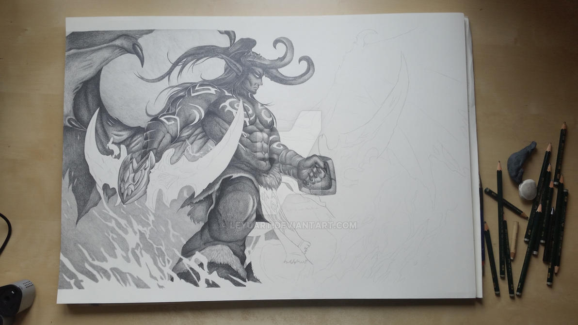 Illidan WIP 2 by LeyuArt