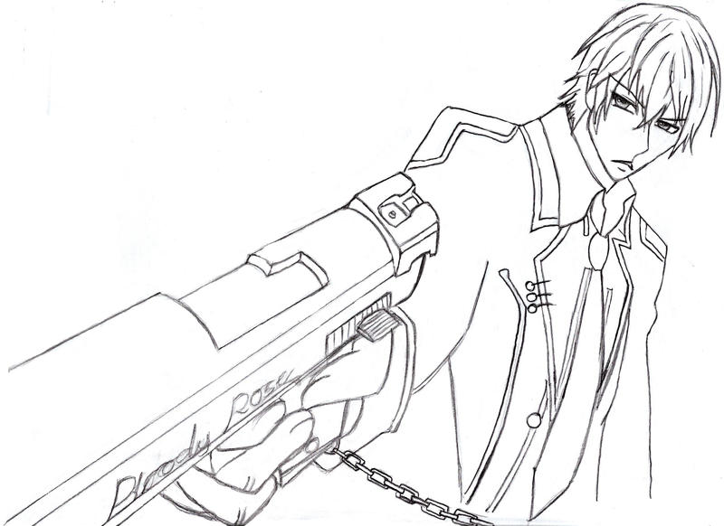Line Art Zero : Zero kiryu line art by mattcrossley on deviantart