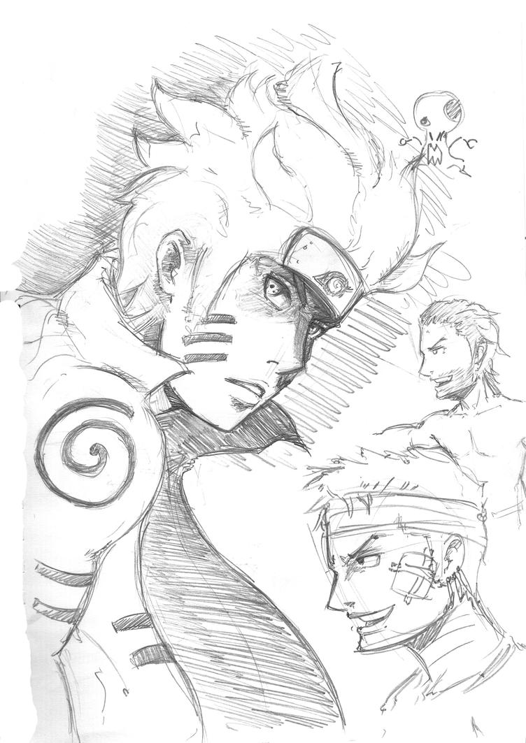Naruto zoro doodles by mattcrossley