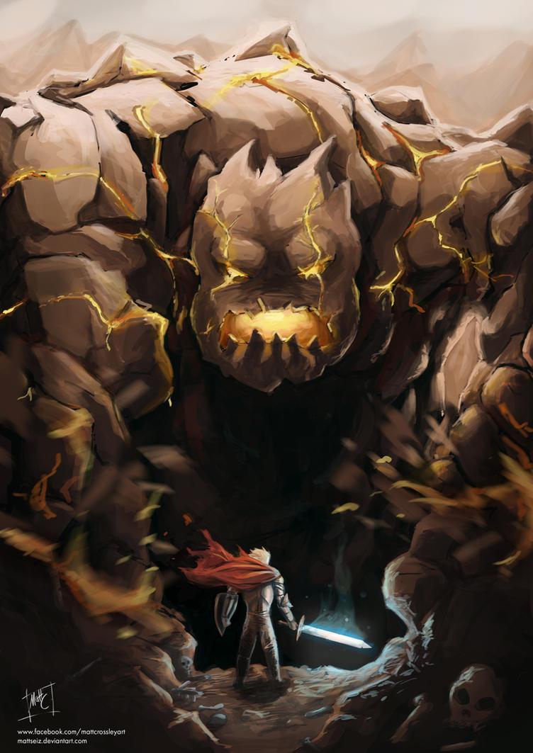 The Lava Golem by MattSeiz
