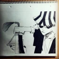 Bleach - Kisuke Urahara a.k.a. Hat And Clogs by MasterPuzzles