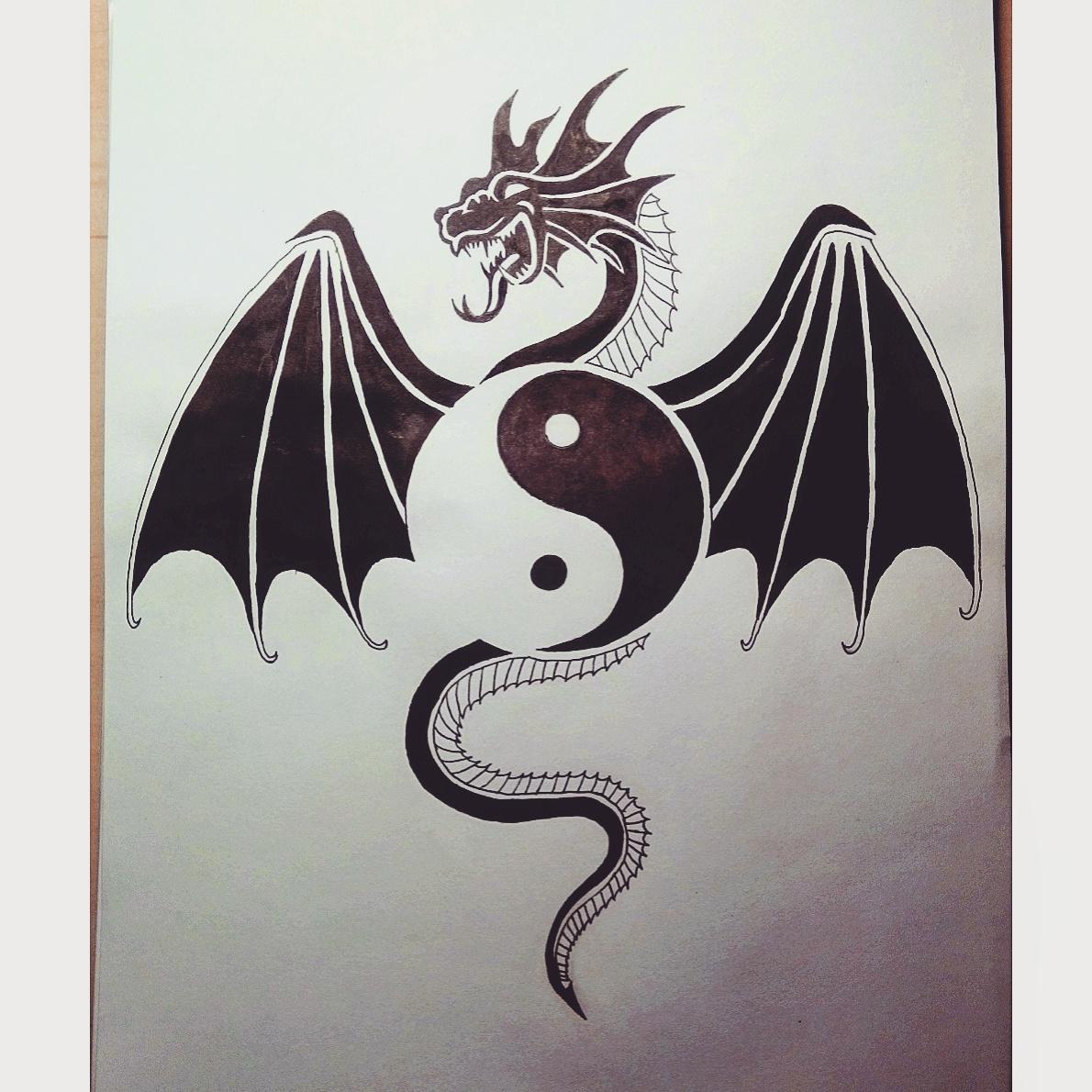 Yin Yang Dragon by MasterPuzzles on DeviantArt