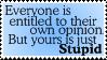 Stamp - Opinions by XxSafetyPinsxX