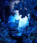Ghostly cat by Zayllara