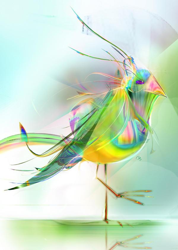 Rainbow Moor Hen by robinweatherall