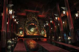 Smoke Dragon Temple by RobertDBrown