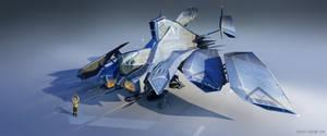 Dropship Escort Spaceship